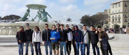 Gli studenti della 4AROB in viaggio studio a Malta.